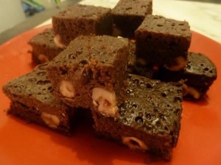 Brownies aux noisettes au micro-ondes