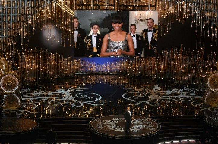 Michelle Obama lors de la remise de l'Oscar du meilleur film pour Argo