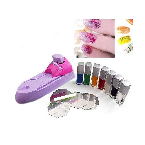 machine-dimpression-de-motifs-pour-ongles-kit-de-6-pochoirs-7-vernis-a-ongles