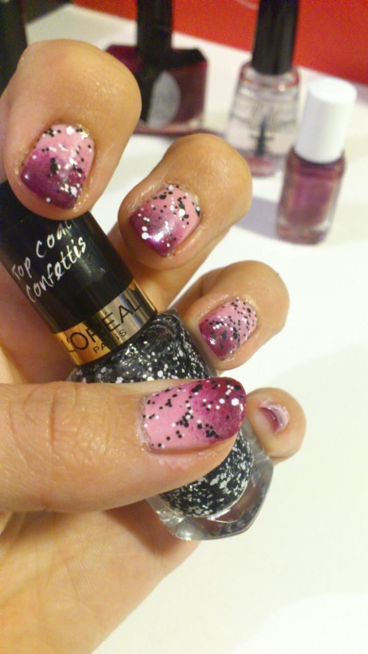 Halloween-manucure-gourmandise-bonbons-rose-confettis-nail-art-octobre