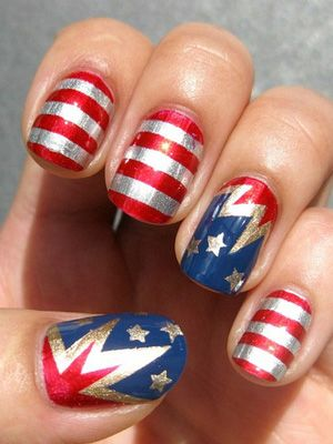 wonder-woman-nail-art-manucure-comics-bande-dessinée