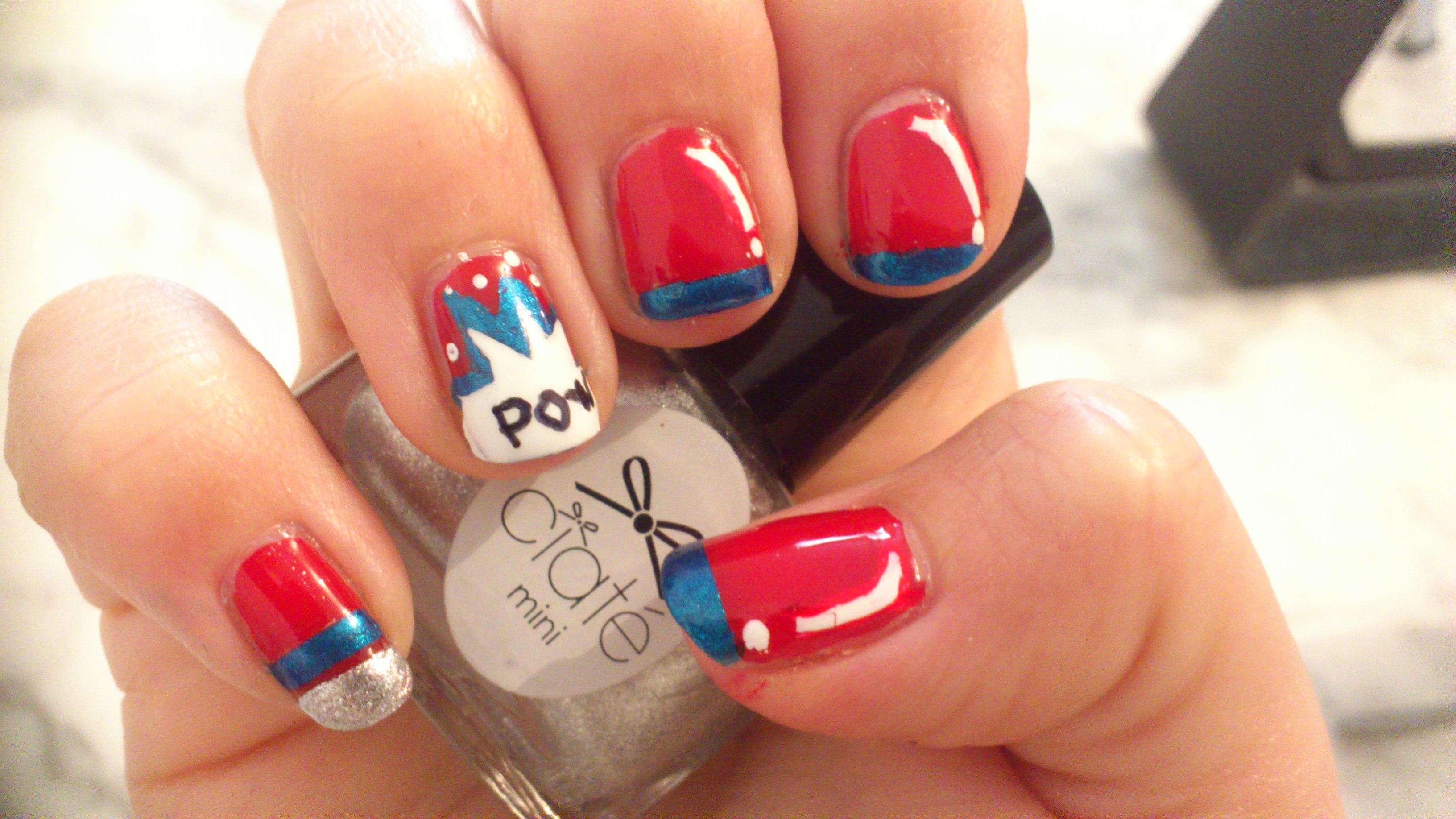 Exceptionnel Nailstorming #39 Bande Dessinée – Mes ongle en mode Wonder Woman  VD67