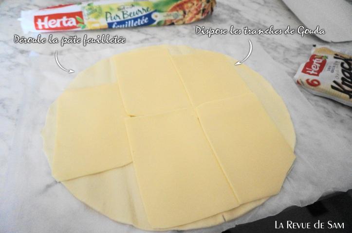 feuilletés fumés et fromage