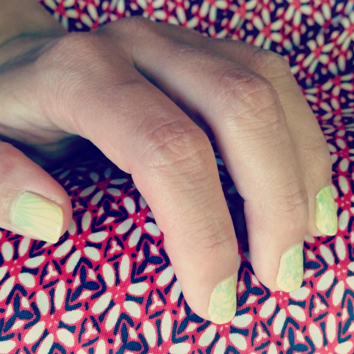 Nail Art Stamping ~ Fresh Mojito ♥