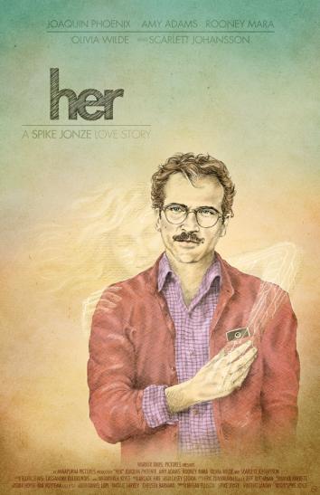 Un Fan Art magnique comme tous ceux de présentés sur ce site Source : http://cinenode.com/film/3345/her/affiches