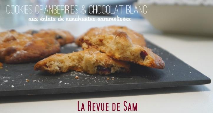 Delicious-cookies-cranberries-chocolat-blanc-cacahuètes-caramélisées