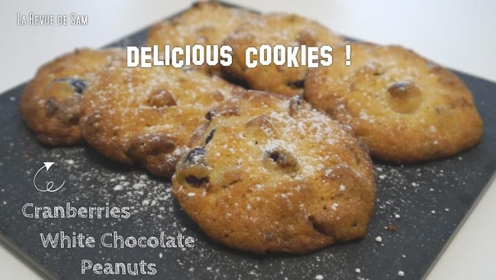 Delicious-cookies-cranberries-chocolat-blanc-cacahuètes