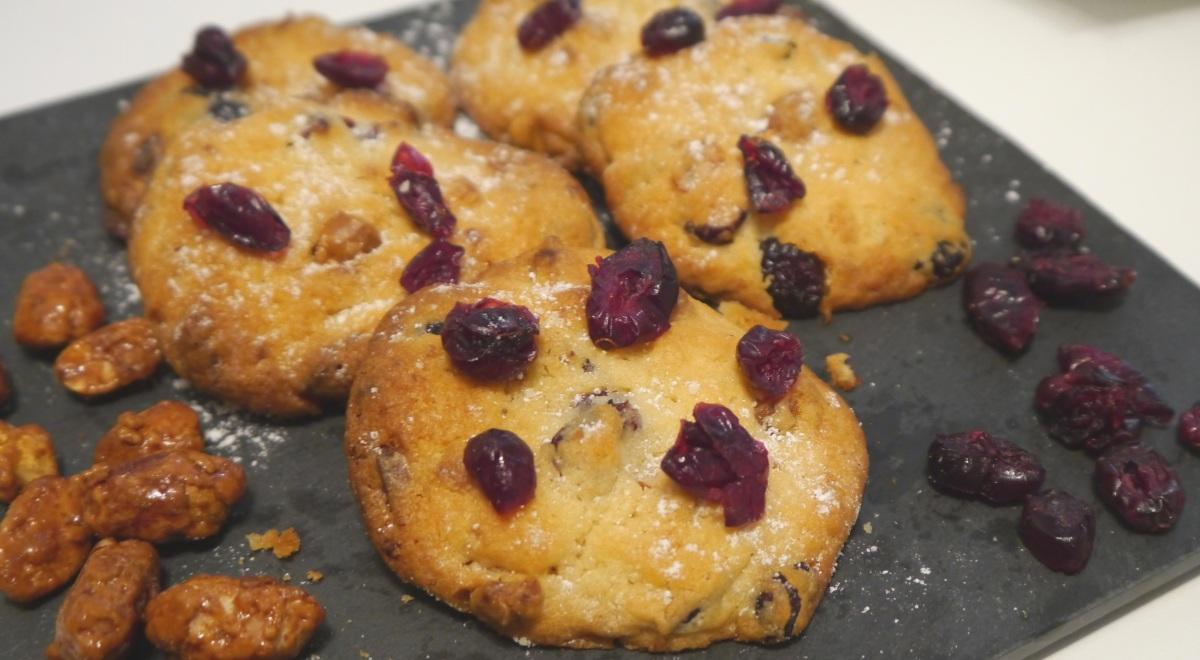 RECETTE | Cookies aux Cranberries, Chocolat blanc & Cacahuètes caramélisées ♥