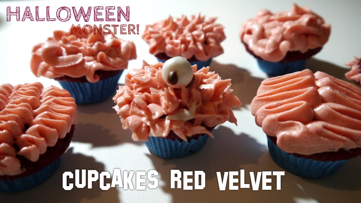 RECETTE | CUPCAKES RED VELVET - Halloween Monsters