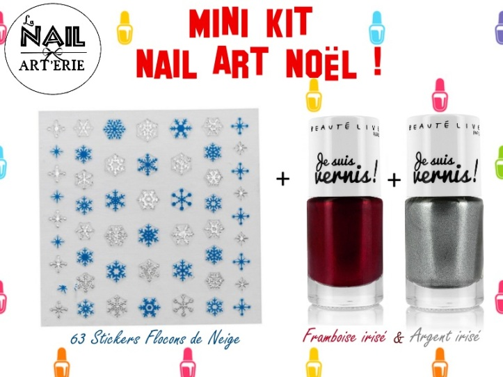 Kit nail art noel christmas debutant facile la revue de sam - Nail art noel facile ...