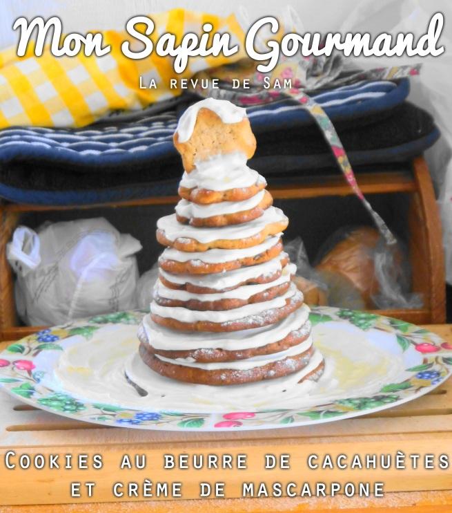 cookies-au-beurre-de-cacahuetes-mascarpone-arbre-enneigé-sapin-gourmand