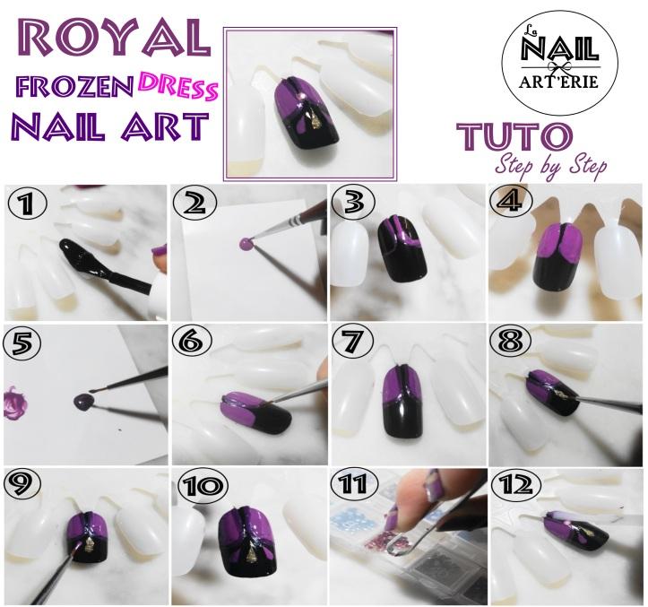 tuto-nail-art-elsa-dress-couronne-frozen-royal-la-nailarterie