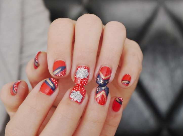 beautelive-nail-art-wonder-woman-comics-larevuedesam.com
